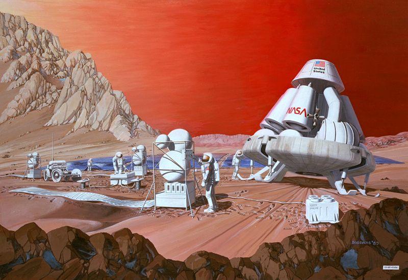 Човек на Марс