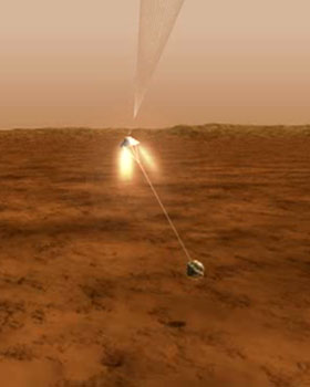 Rover landing